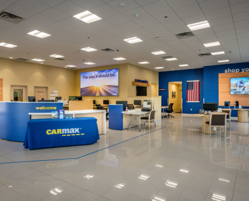 CarMax Covington, LA interior | DonahueFavret General Contractor, Louisiana and Gulf South
