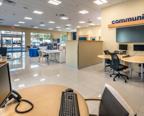 CarMax Covington, LA sales floor | DonahueFavret General Contractor, Louisiana and Gulf South