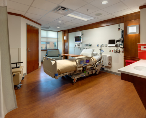TRMC Patient room | DonahueFavret General Contractors | Louisiana and Gulf South