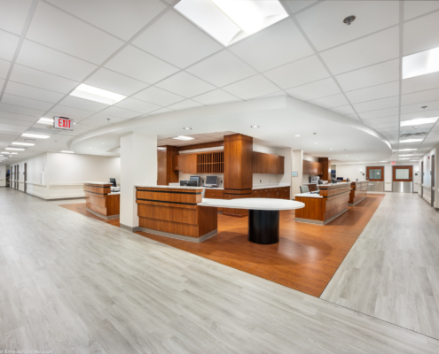 west side view of nurse station TRMC | DonahueFavret General Contractors | Louisiana and Gulf South