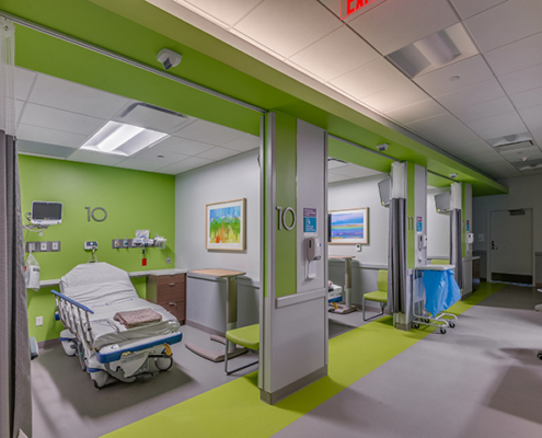 view of a room in UMC Outpatient Surgery Center | DonahueFavret General Contractors | Louisiana and Gulf South