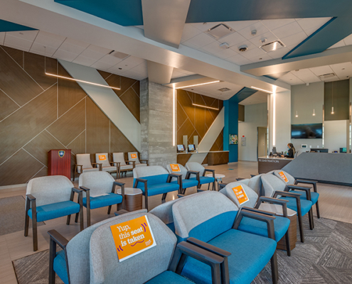 waiting room at UMC Outpatient Surgery Center | DonahueFavret General Contractors | Louisiana and Gulf South