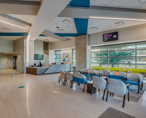waiting room at UMC Outpatient Surgery Center| DonahueFavret General Contractors | Louisiana and Gulf South