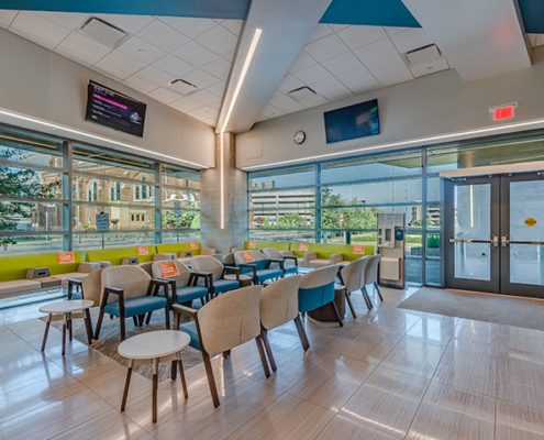 waiting room at at UMC Outpatient Surgery Center at UMC Outpatient Surgery Center | DonahueFavret General Contractors | Louisiana and Gulf South