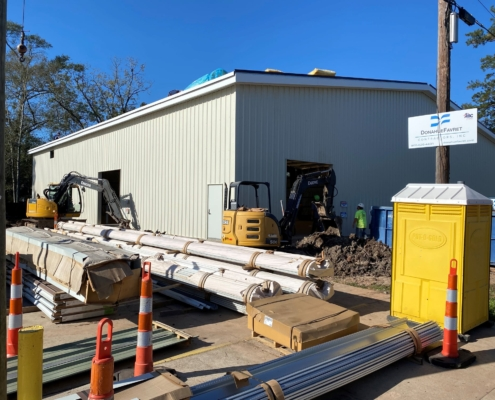 Mele Printing large format printing building exterior of building | DonahueFavret General Contractor | Louisiana and Gulf South