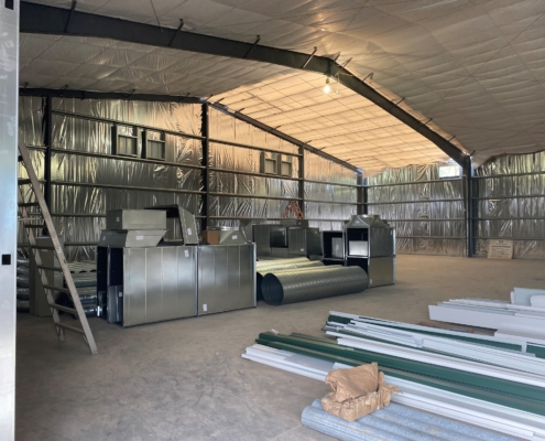 Mele Printing large format printing building interior with building materials and insulated walls | DonahueFavret General Contractor | Louisiana and Gulf South