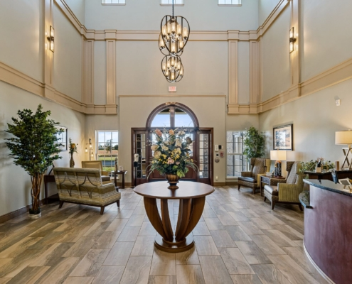 Old Brownlee Community Care Center lobby| DonahueFavret General Contractor | Louisiana and Gulf South