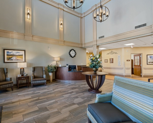 Old Brownlee Community Care Center lobby | DonahueFavret General Contractor | Louisiana and Gulf South