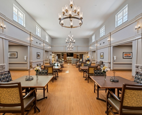 Old Brownlee Community Care Center wing dining | DonahueFavret General Contractor | Louisiana and Gulf South