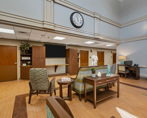 Old Brownlee Community Care Center wing lounge area | DonahueFavret General Contractor | Louisiana and Gulf South