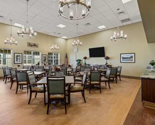 Old Brownlee Community Care Center multi-purpose room | DonahueFavret General Contractor | Louisiana and Gulf South