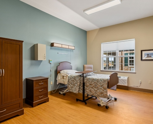 Old Brownlee Community Care Center resident room | DonahueFavret General Contractor | Louisiana and Gulf South