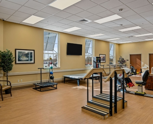 Old Brownlee Community Care Center physical therapy room | DonahueFavret General Contractor | Louisiana and Gulf South