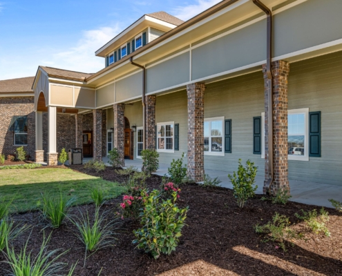 Old Brownlee Community Care Center front facade wing | DonahueFavret General Contractor | Louisiana and Gulf South