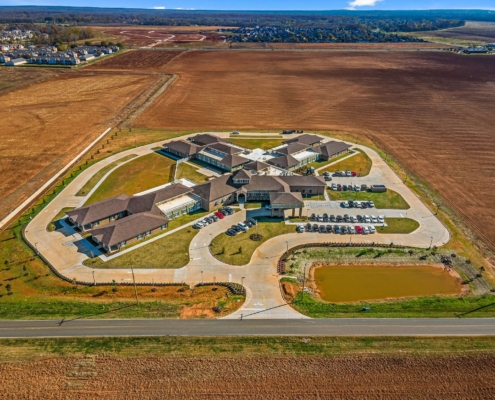 Old Brownlee Community Care Center aerial view | DonahueFavret General Contractor | Louisiana and Gulf South