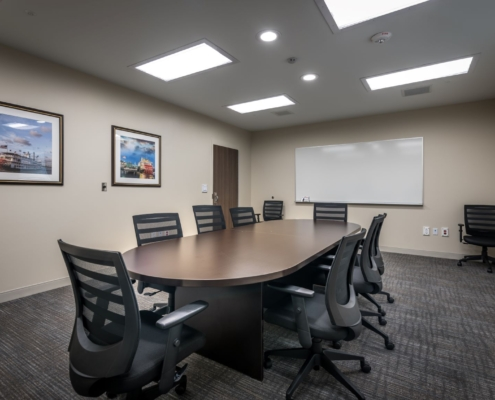 conference room in Oceans Behavioral Hospital renovation | DonahueFavret General Contractor | Louisiana and Gulf South