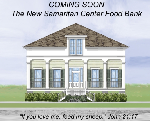 drawing of Coming Soon The New Samaritan Center Food Bank | DonahueFavret General Contractor | Louisiana and Gulf South