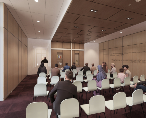 rendering of board room Second Harvest Food Bank renovations and additions | DonahueFavret General Contractor | Louisiana and Gulf South