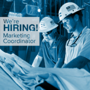graphic of two men in hard hats for employment ad | DonahueFavret General Contractor | Louisiana and Gulf South