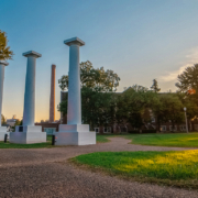 Columns on NSU Campus | DonahueFavret General Contractor | Louisiana and Gulf South